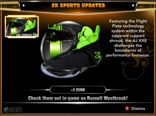 Air Jordan XX8 Added to NBA 2K13