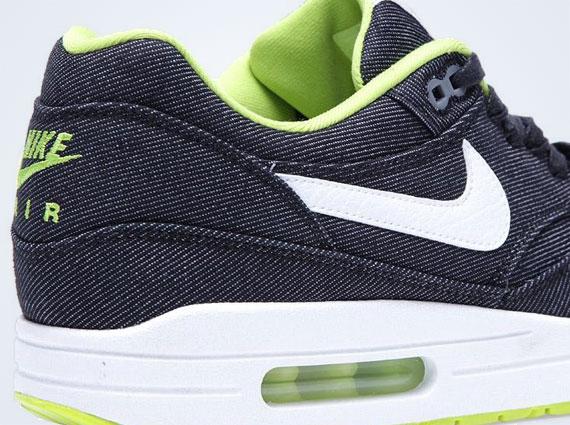 Nike-air-max-1-jean-blanc Noir-cyber-cool-gris