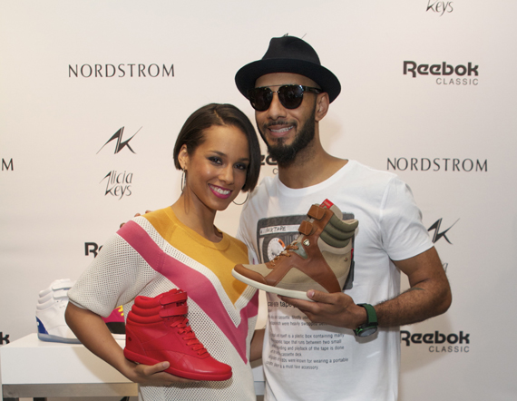 dc99890f7a2a The Reebok Classic line continues to be a collection curated in part by the  celebrity power couple of Alicia Keys and Swizz Beatz.