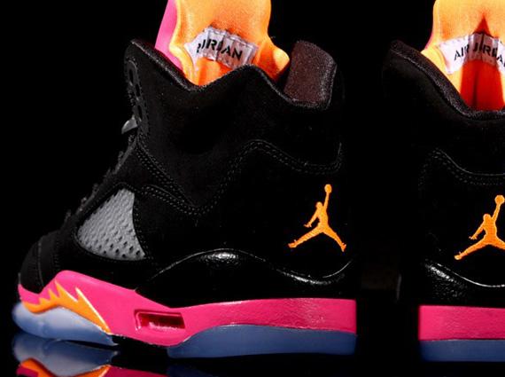 ad36b3840e2d Air Jordan V Retro GS - Black - Bright Citrus - Fusion Pink -  SneakerNews.com