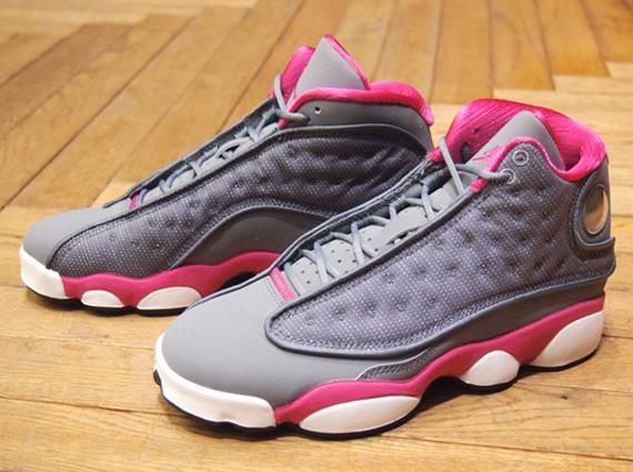 reputable site b8ece dec10 ... White,jordans for women Air Jordan XIII GS – Cool Grey – Fusion Pink  Release Date 1Air Jordan 13 ...