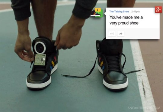"Google Introduces ""The Talking Shoe"""