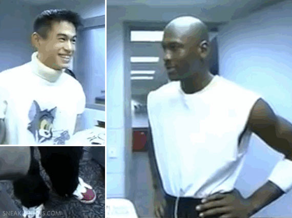 910e28057ee723 Ichiro Wears OG Carmine VI While Meeting Michael Jordan in 1995 -  SneakerNews.com
