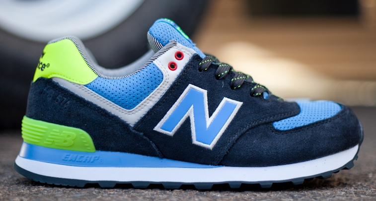 new balance 574 blue neon green