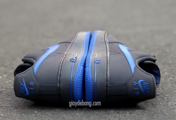 new arrival 054d1 2e2ec Nike Air Force 1 Low - Dark Grey - Royal Blue - SneakerNews.com