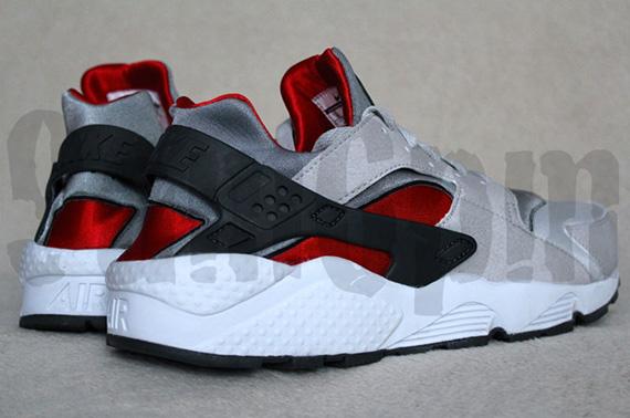 Nike Air Huarache LE Neutral Grey University Red-White 318429-002 f5ca60121