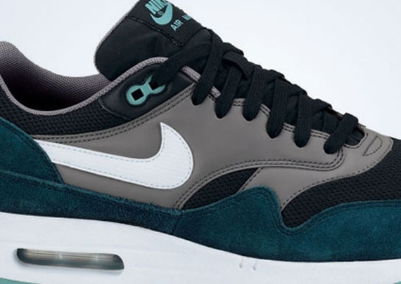 Nike Air Max 1 - Black - White - Mid Turquoise - Cool Grey ... 0a4df89726c6