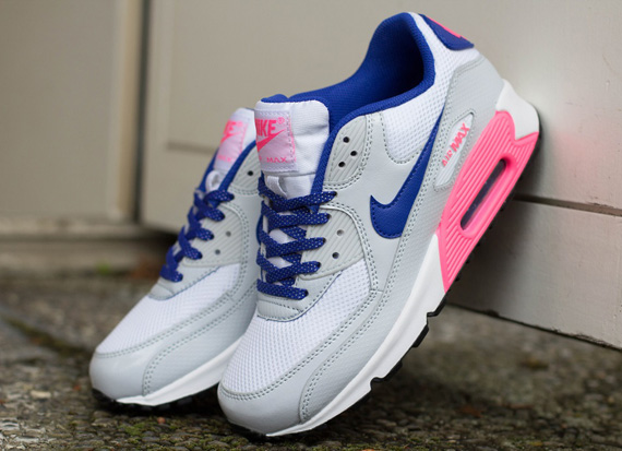 Womens Nike Air Max 90 White Hyper Pink Black