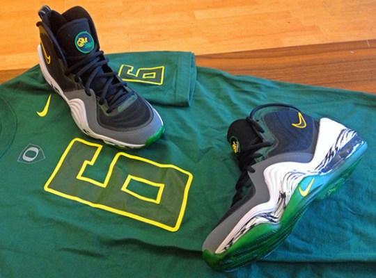 "Nike Air Penny V ""Oregon Ducks"" Customs by Sole Swap"