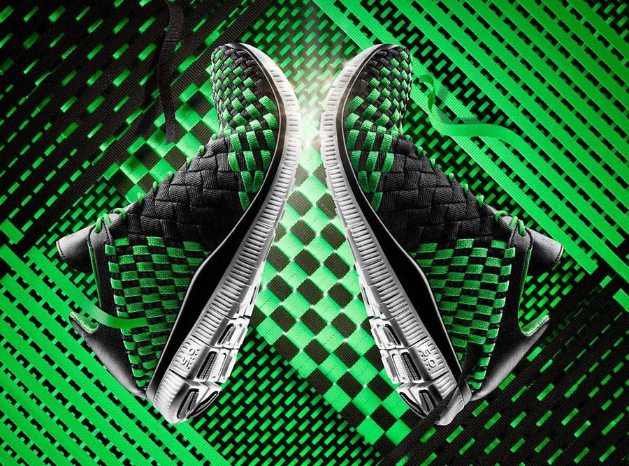 c6c747cb8f0f Nike Free Inneva Woven - Black - Poison Green - Sail - SneakerNews.com