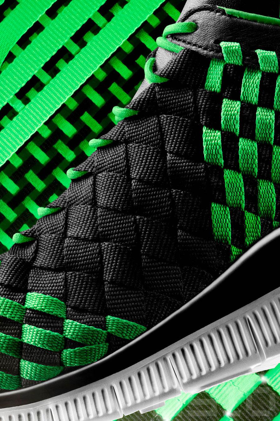 on sale b3f2d 04ea8 Nike Free Inneva Woven - Black - Poison Green - Sail - SneakerNews.com