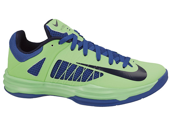 save off a63a6 3ae8c Nike Hyperdunk 2012 Low Poison Green Blackened Blue-Hyper Blue 554671-302