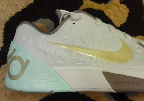 a3a96869d99b Nike KD Trey 5 - White - Mint - Grey - SneakerNews.com