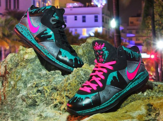 "Nike LeBron 8 ""South Beach 8.5"" Customs by Twizz"
