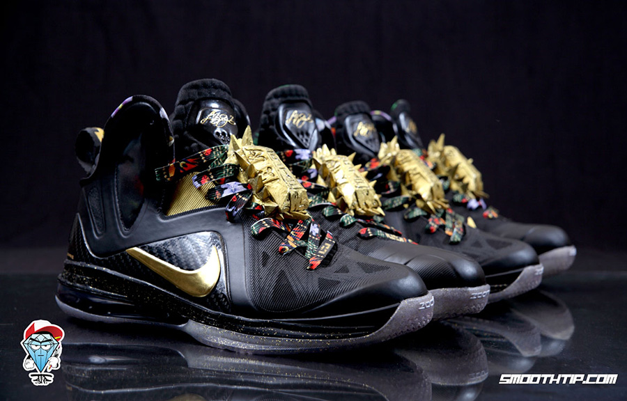 """various colors 468d2 82751 ... """"taxi"""" Nike LeBron 9 Elite """"Watch The Throne"""" Customs by SmoothTip"""