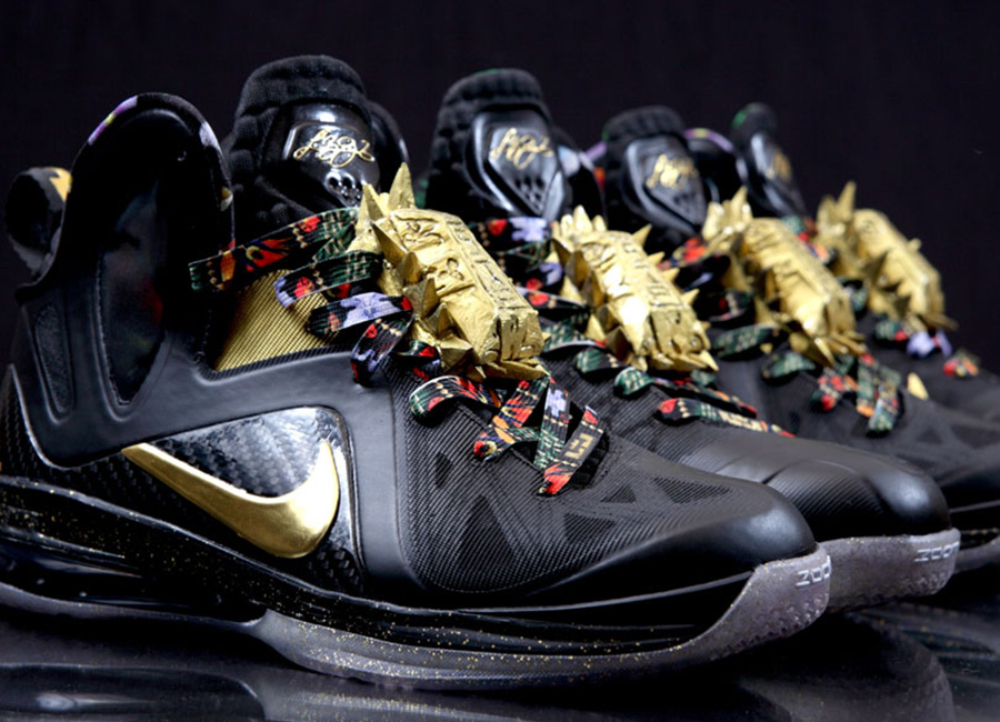 """Nike LeBron 9 Elite """"Watch The Throne"""" Customs by ..."""