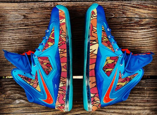 "Nike LeBron X ""China"" Customs by Gourmet Kickz"