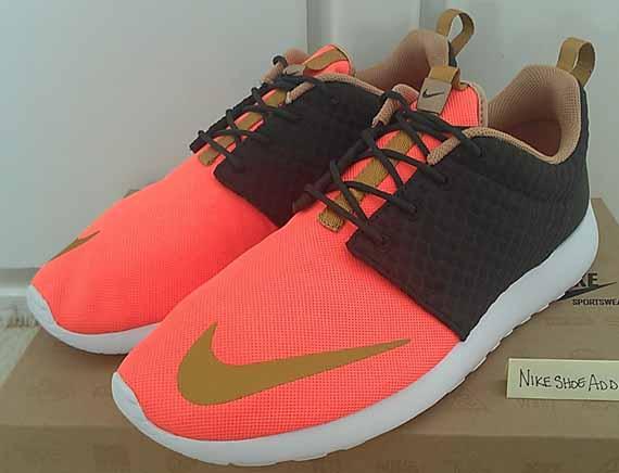 Nike Roshe Run Rosherun FB Sequoia Gold Orange
