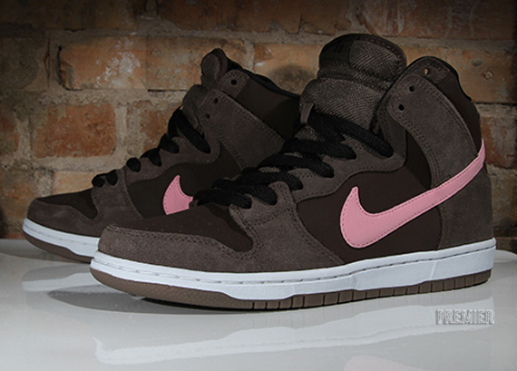 fashion styles clearance sale wholesale dealer Nike SB Dunk High - Smoke - Baroque Brown - Ion Pink ...