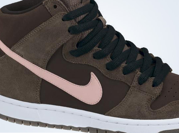 buy sale exquisite design super specials Nike SB Dunk High - Smoke - Ion Pink - Baroque Brown ...