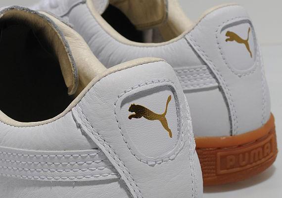 Puma Basket White Gold