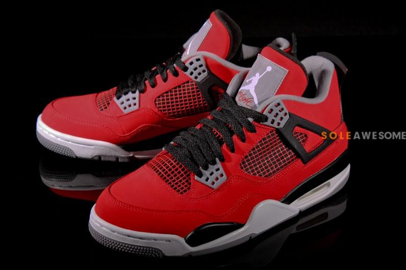 """Fire Red Nubuck"" Air Jordan IV"
