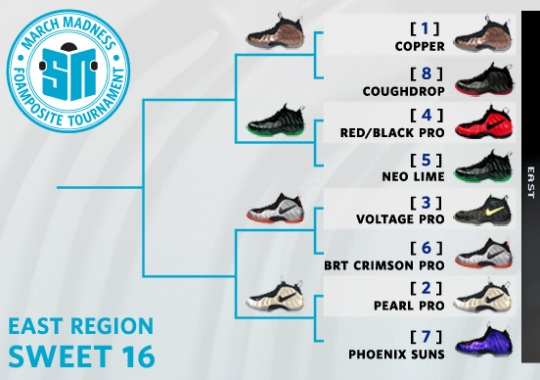 Sneaker News March Madness Foamposite Tournament – Sweet 16 Voting | East