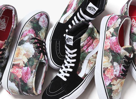 vans era x supreme floral sneaker