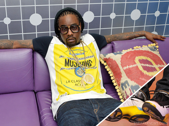 wale in air jordan xvii lightning sneakernews com