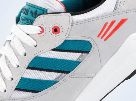 adidas Originals Tech Super – White – Teal – Red