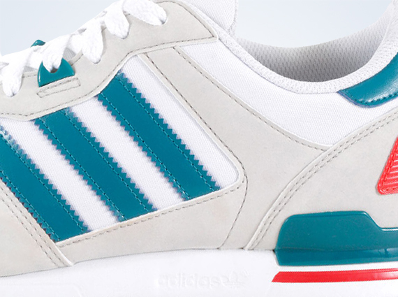 sports shoes 2cd85 2caaa adidas Originals ZX 700 – White – Teal – Red