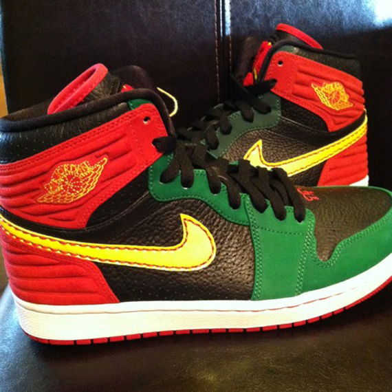 on sale 99e8f 7dc40 Air Jordan 1 Retro  93 – Red – Green – Black   Sample
