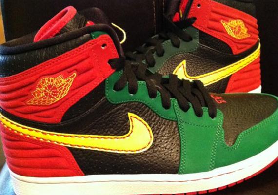 on sale 1086a e2962 Air Jordan 1 Retro  93 – Red – Green – Black   Sample