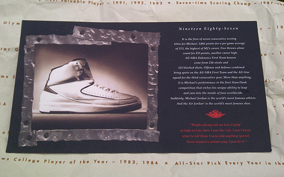 42d2b797c507 The Air Jordan II also featured the larger Retro Cards when this model was  brought back in 1994.