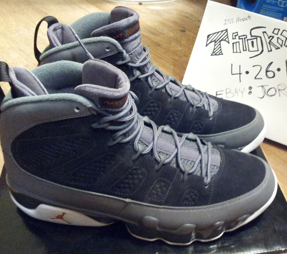 sale retailer a0ead d5dad Air Jordan IX - Black - Mesa Orange - Dark Grey   Unreleased Sample -  SneakerNews.com