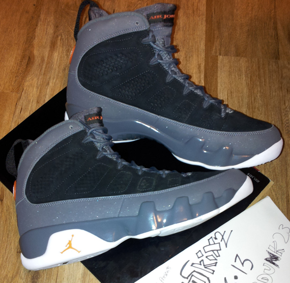 brand new d4fd3 011fe Air Jordan IX - Black - Mesa Orange - Dark Grey   Unreleased Sample ...