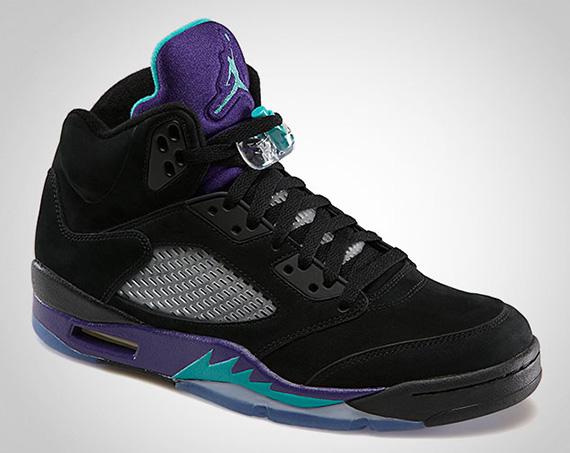 air jordan retro 5 black grape release date