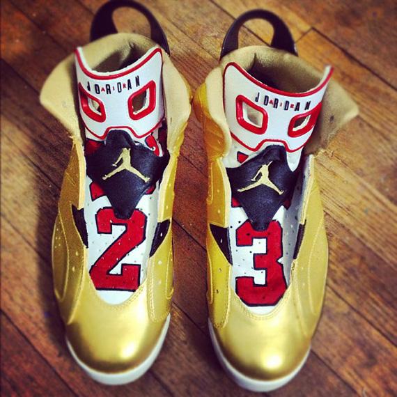 air jordan vi quot91 champquot custom by el cappy sneakernewscom