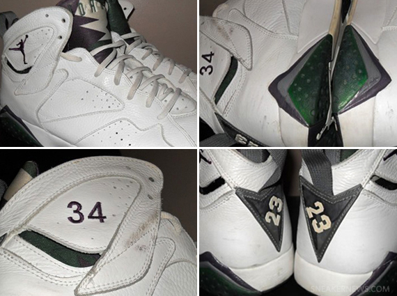 "new concept 8a90a 733c8 ... Allen Milwaukee Bucks ""Away"" PE Up until he signed with the Miami Heat  this offseason, the color green followed Ray Air Jordan VII Ray ..."