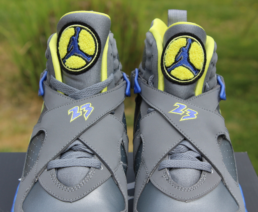 Mens Air Jordan 8 VIII) Retro Cool Grey Black shoes