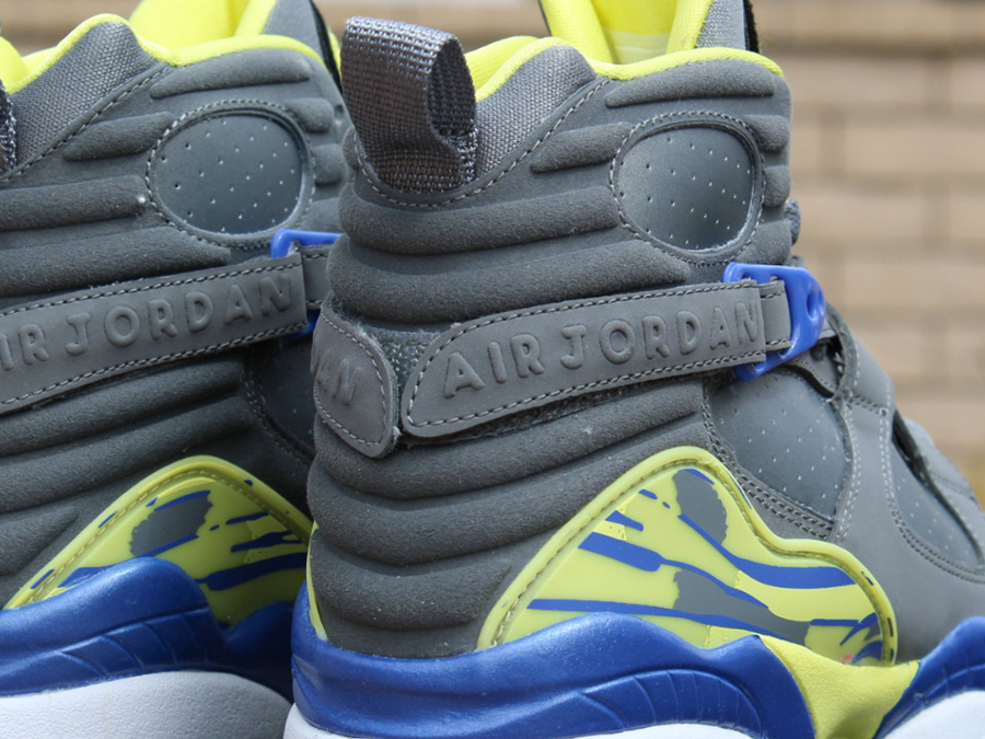 b3f8e112790 Air Jordan VIII GS - Cool Grey - Violet Force - Electric Yellow ...