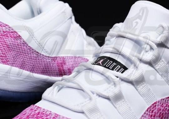 Air Jordan XI Low GS – White – Pink – Snakeskin