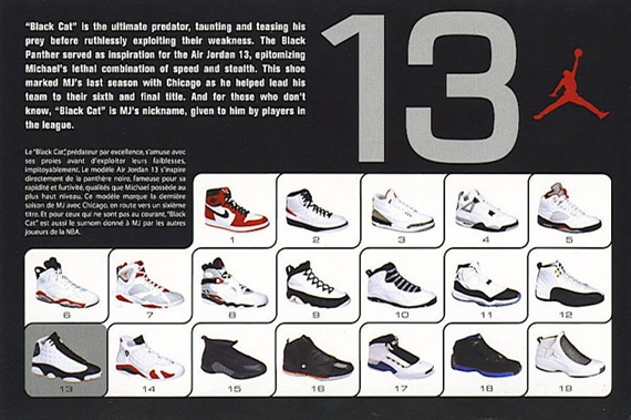 sports shoes 68f85 f3903 The Air Jordan XIII first Retroed in 2004 and features the fierce imagery  of MJ and a Black Cat – an animalistic persona that Jordan felt he had.