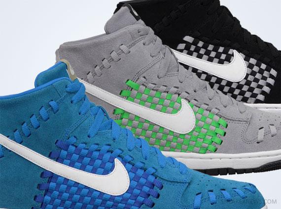 half off 5304d 9d552 Nike Dunk High Woven - April 2013 Colorways - SneakerNews.com