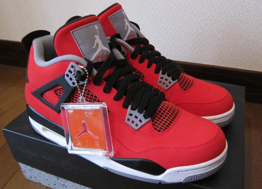 officiel de sortie vraiment sortie Air Jordan Retro 4 Feu Dansko Nubuck  Rouge boutique d'