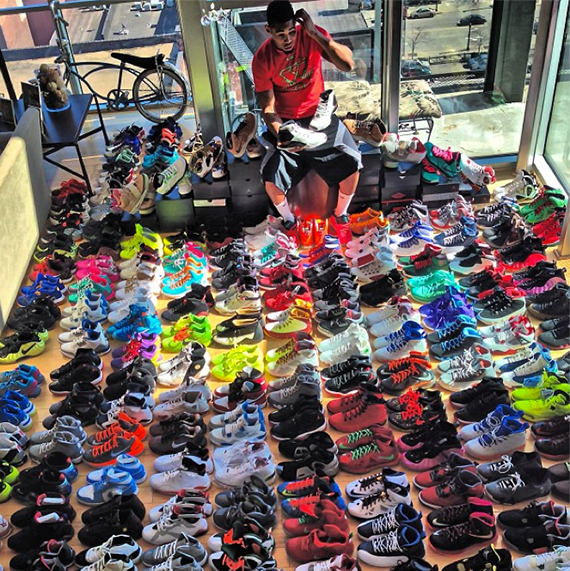 joe haden shows off his sneaker collection sneakernewscom