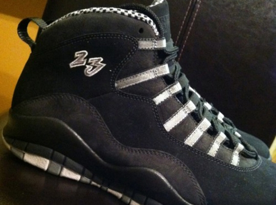 "Air Jordan X ""Stealth"" – Unreleased ""23"" Sample"