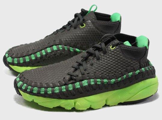 Nike Air Footscape Woven Chukka – Black – Green