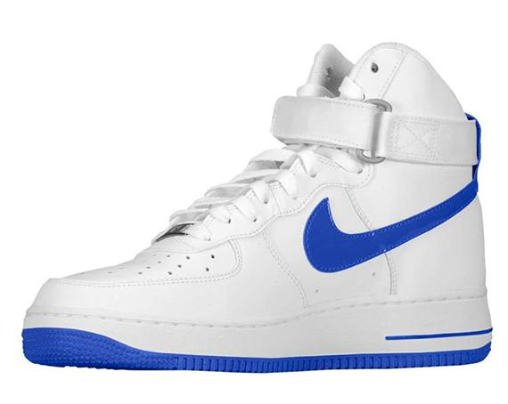 Nike Air Force 1 High White Hyper Blue Sneakernews Com