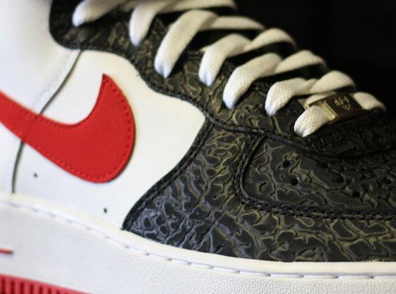 Nike Air Force 1 High – White – Red – Black Elephant